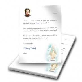 Our Lady Thank You Letter