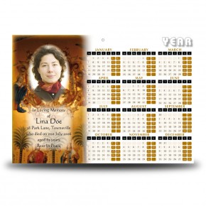 Our Father Calendar Single Page