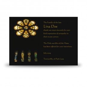 Stained Glass Church Acknowledgement Card