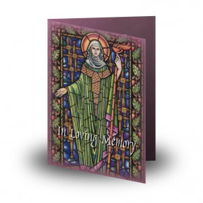 St Brigid Folded Memorial Card
