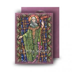 St Brigid Standard Memorial Card