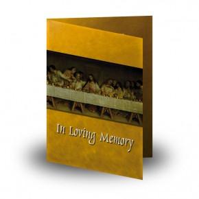 Last Supper Da VInci Folded Memorial Card