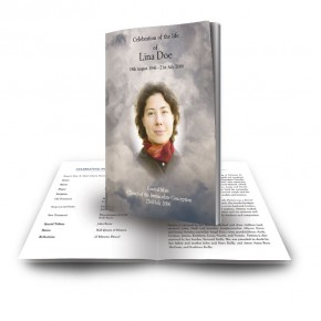 Cross Amid Clouds Funeral Book