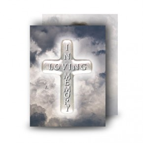 Cross Amid Clouds Standard Memorial Card