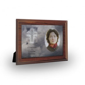 Cross Amid Clouds Plaque
