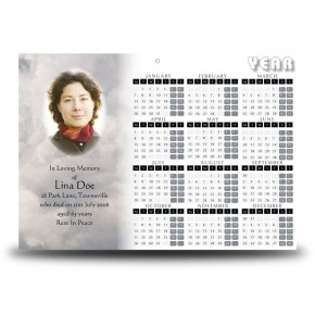 Cross Amid Clouds Calendar Single Page