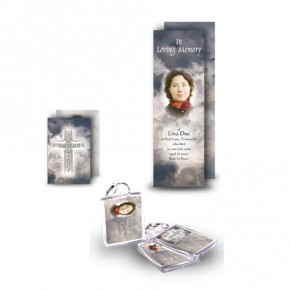 Cross Amid Clouds Pocket Package