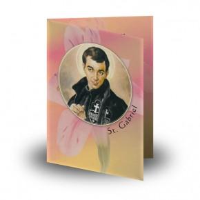 St Gabriel Folded Memorial Card