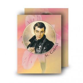 St Gabriel Standard Memorial Card