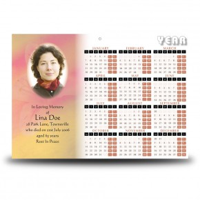 St Gabriel Calendar Single Page