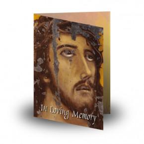 Crown of Thorns Folded Memorial Card