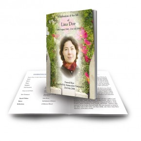 Spring Flowers Funeral Book