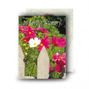 Spring Flowers Standard Memorial Card