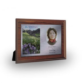 Flowers Field Mountains Plaque