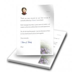 Flowers Field Mountains Thank You Letter