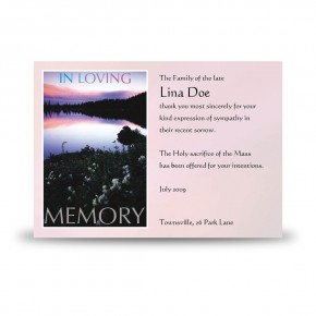 Lilac Lake Co Tyrone Acknowledgement Card
