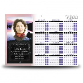 Lilac Lake Co Tyrone Calendar Single Page