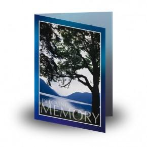 Lakeside Tree Folded Memorial Card