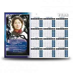 Lakeside Tree Calendar Single Page