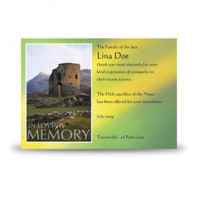Castle West of Ireland Acknowledgement Card