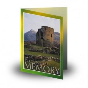 Castle West of Ireland Folded Memorial Card