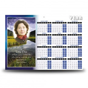 Reflections Co Offaly Calendar Single Page