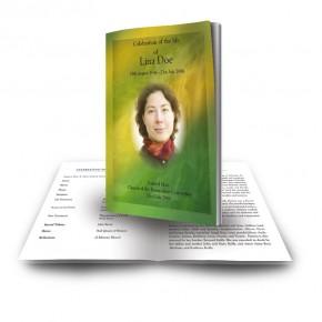 Flowing Cascade Funeral Book