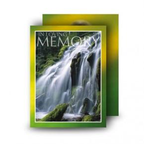 Flowing Cascade Standard Memorial Card