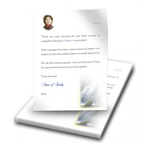 Flowing Cascade Thank You Letter