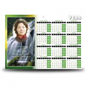 Flowing Cascade Calendar Single Page