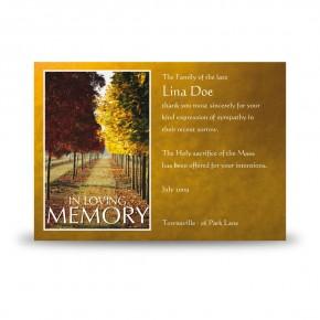 Autumn Walkway Acknowledgement Card