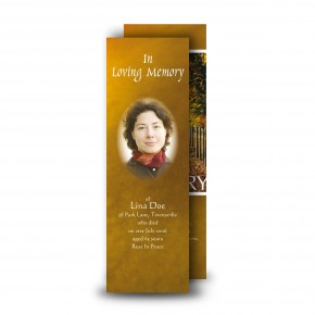 Autumn Walkway Bookmarker