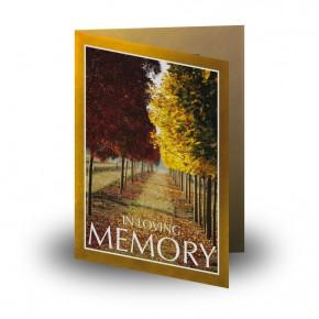 Autumn Walkway Folded Memorial Card