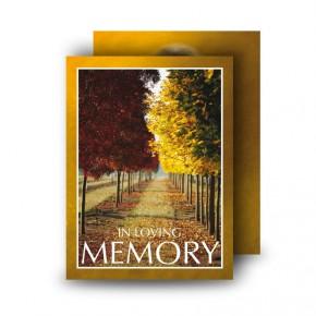 Autumn Walkway Standard Memorial Card