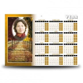 Autumn Walkway Calendar Single Page