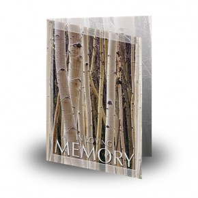 Birches Folded Memorial Card