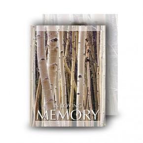 Birches Standard Memorial Card