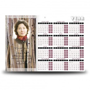Birches Calendar Single Page