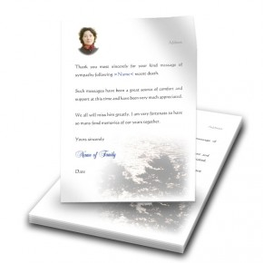 Silver Reflection Co Antrim Thank You Letter