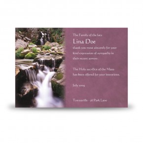 Cataract Co Wicklow Acknowledgement Card