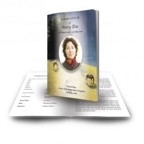 Grazing Horses Funeral Book