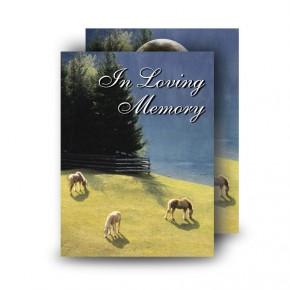 Grazing Horses Standard Memorial Card