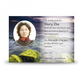 Sea Stones Co Down Acknowledgement Card
