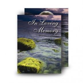 Sea Stones Co Down Standard Memorial Card