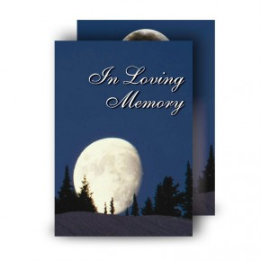 Full Moon Standard Memorial Card