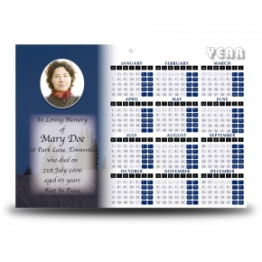 Full Moon Calendar Single Page