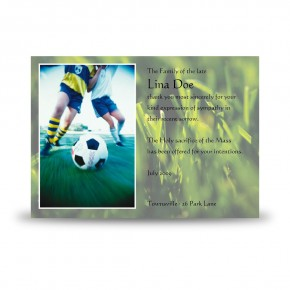 Football Acknowledgement Card