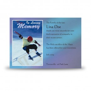 Skating Acknowledgement Card