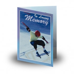 Skating Folded Memorial Card