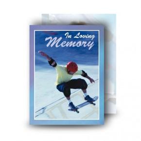 Skating Standard Memorial Card
